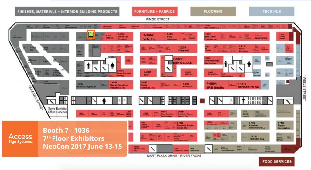 Neocon 2016 Exhibit Floor Map